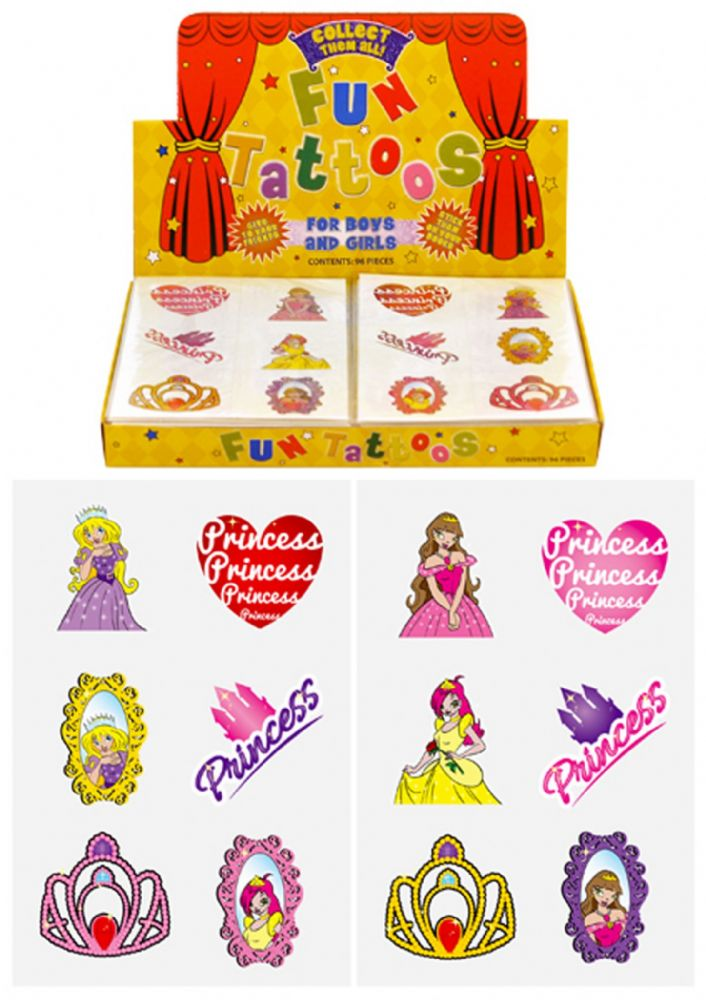 Princess Themed Tattoos (Box)